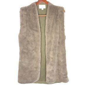 Hinge Faux Fur Fluffy Vest